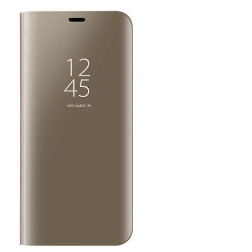 Dedux Huawei Y6s Clear View Stand Hülle, Handyhülle Tasche Flip Schutzhülle für Huawei Y6s, Gold