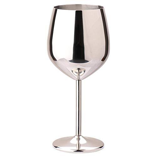 ZHIXX MALL Copa de vino rojo de una sola capa de acero inoxidable copa de vino tinto colorido de gran capacidad en forma de tambor resistente a las caídas de cobre chapado en vidrio de vino
