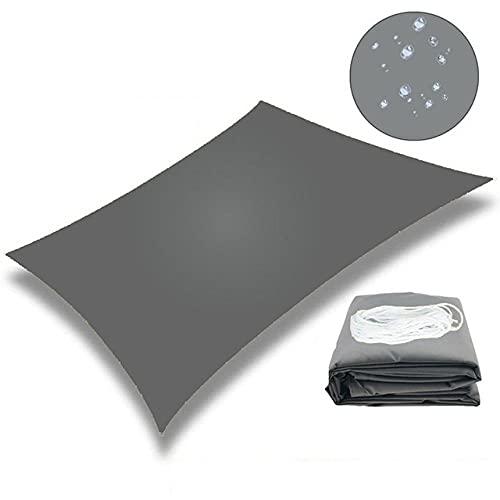 YingQ Toldo Protector Solar Parasol De Lona Toldo Impermeable Parasol Parasol Vela para Jardín Al Aire Libre Playa Camping Patio Piscina Toldo para El Sol Carpa Sun Shelte-B-Grey 2X3M