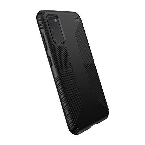 Speck Products Presidio Grip Samsung Galaxy S20 Case, Black/Black (136313-1050)