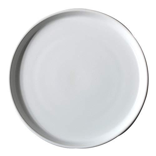 ELLENS Platos de Cena de cerámica de 8 Pulgadas / 10 Pulgadas, Grandes y Elegantes Platos Redondos de Porcelana Mate para bistec, Pasta, Pizza, Ensalada
