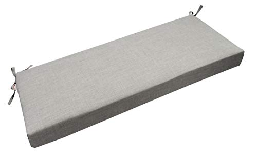 RSH Décor Indoor/Outdoor Bench Cushion Made from Premium Sunbrella Cast Silver Grey/Gray Fabric - 3' Thick Foam Bench Pad with Ties - Choose Size (36' x 14')