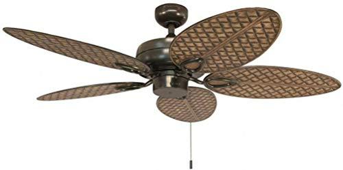 Harbor Breeze Tilghman II 52-in Bronze Indoor/Outdoor Residential Ceiling Fan with Adaptable Light Kit (5-Blade)