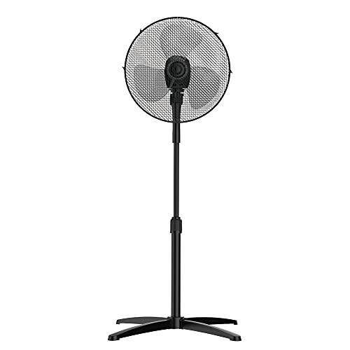 PELONIS Standventilator Leise Durchmesser 16 Zoll (41cm), Elektrischer Oszillierender Energiesparender Stehventilator mit Verstellbarer Höhe (3 Geschwindigkeiten ohne Fernbedienung)