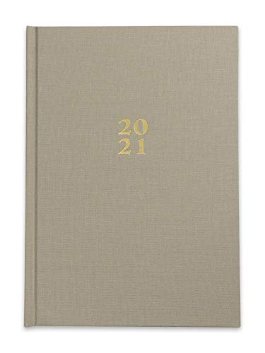 Die.Organizer Kalender - A5 Terminkalender & Wochenplaner 2021 mit Hardcover Blassbraun