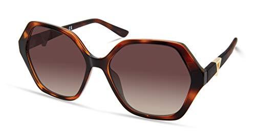 GUESS Women's GUA00008 Square Sunglasses, dark havana, 57mm