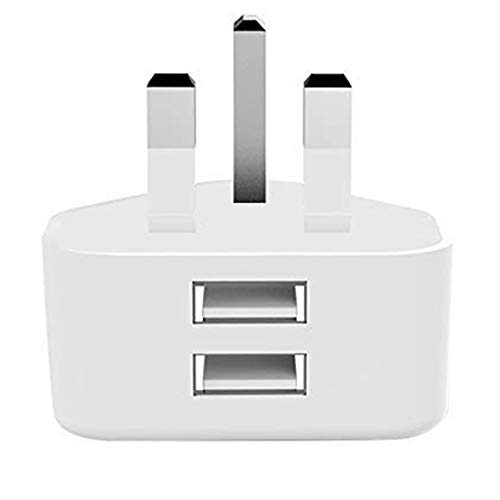 DGTRD USB Charger Plug-DC 5V 2.1A, Dual Port USB Power Adaptor Plug Wall Charger Head for Tablets Iphone 11 Xs Max XR 8 Plus Ipad Samsung Galaxy S10 S8 A50 Huawei Motorola Etc-White