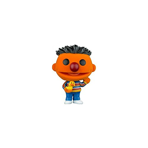Funko– Figura Pop Vinyl Coleccionable de la Serie Sesame Street, Personaje Ernie Flocked 05 - Realizada en Vinilo