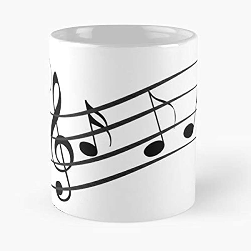 Music Notes Coffee Mugs For Holiday Days 11 Oz