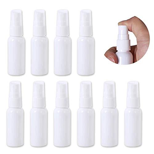 TOMYEER 50 ml 10 Stück Alkohol Sprühflasche PET-Sprayer Flüssigkeit Flasche Reise weiß Fläschchen Kosmetik Dosen Behälter