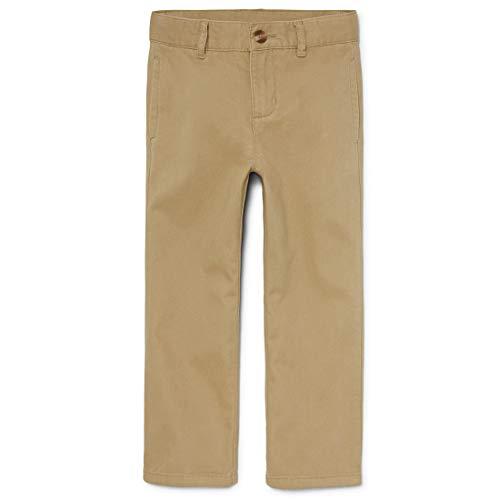 The Children's Place boys Uniform Chino Pants, Flax, 8 Slim US
