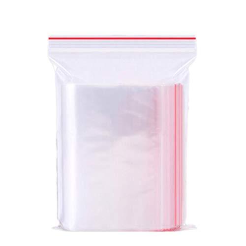 100 unids bolsas de sellado transparente claro resellable cremallera bolsas de poly dispensador bolsa de almacenamiento bolsas de almacenamiento para alimentos pequeño artículo bocadillos joyería Fáci