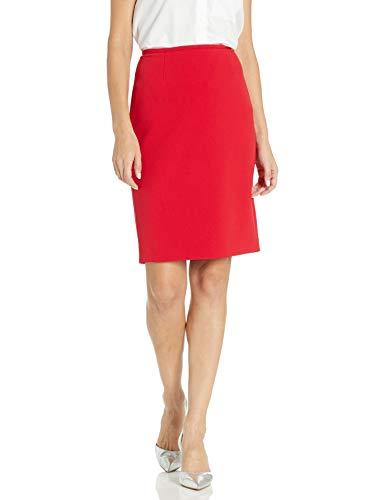 Calvin Klein Women's Scuba Crepe Skirt, Red, 8