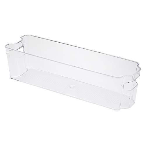 Amazon Basics - Recipienti in plastica per il frigo, stretti, set di 2