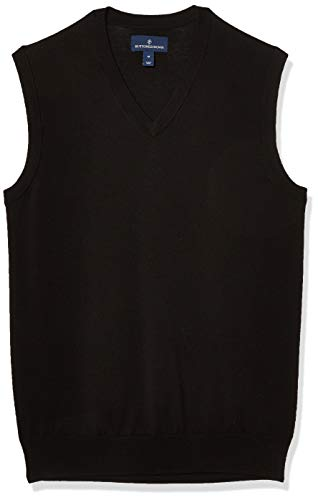 Black Sweater Vest for Men's