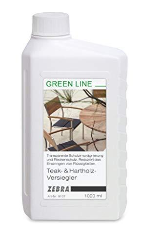ZEBRA Teak & Hartholz Versiegler 1000ml Greenline-Pflege für Gartenmöbel