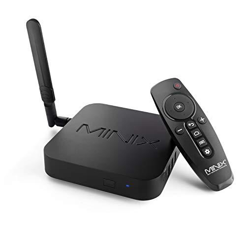 MINIX Android 9.0 Pie Media Hub 4K Ultra HD HDR10 + 4 GB DDR4/32 GB eMMC HDMI 4K @ 60 Hz 3 x USB 3.0 USB-C [nur Daten] GLAN AC Wi-Fi TF Karte (NEO U22-XJ)