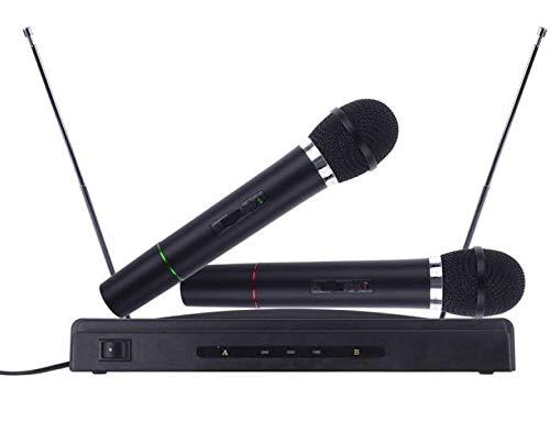 TEMPO DI SALDI Kit Coppia Di Microfoni Wireless Con Ricevitore Professionale Per Karaoke