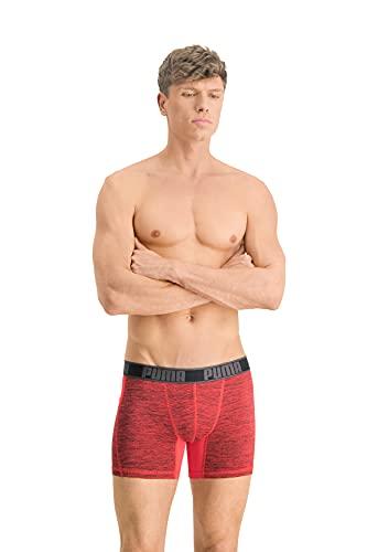 PUMA Men's Active Boxer Shorts, red Combo, Medium