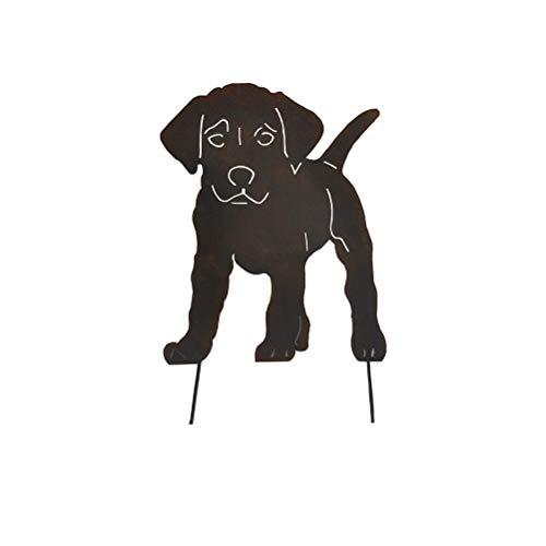 Estatua del jardín del metal para perros estacas decorativas la silueta de animales para los regalos jardín Decoración del jardín al aire libre estatua, silueta animal, adornos de jardín al aire libre