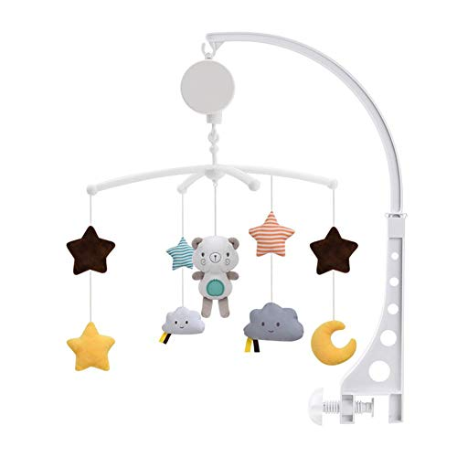 Best Price! Baby Musical Crib Mobile with Hanging Rotating Toys and Music, Infant Bedbell Rattle Toy...