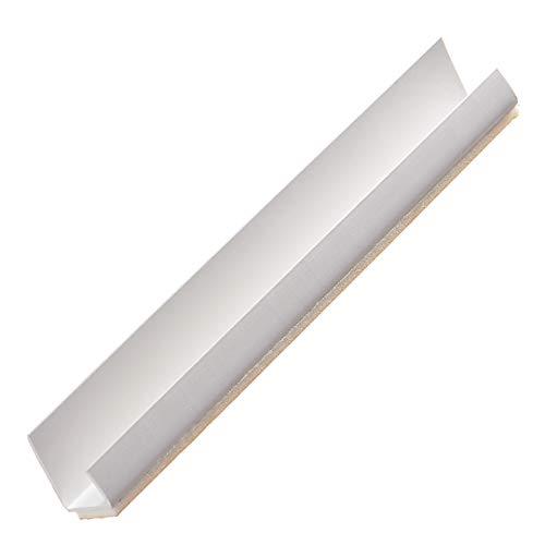 PROTEKTOR 3735, PVC Einfassprofil selbstklebend, Plattenstärke 12,5 mm für Gipskarton, 250 cm | 50 Stück