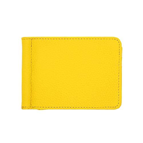 [アビアントセレクト] マネークリップ レディース 財布 カードケース パスケース 二つ折り財布 ミニウォレット イエロー