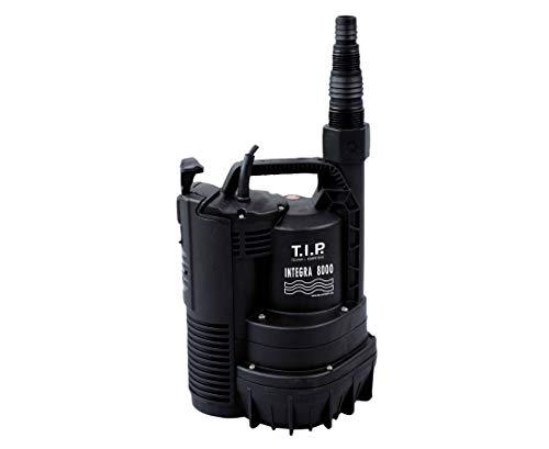 T.I.P. 30166 Drainage Tauchpumpe Integra 8000, flachabsaugend bis 2 mm, bis 8.000 l/h Fördermenge