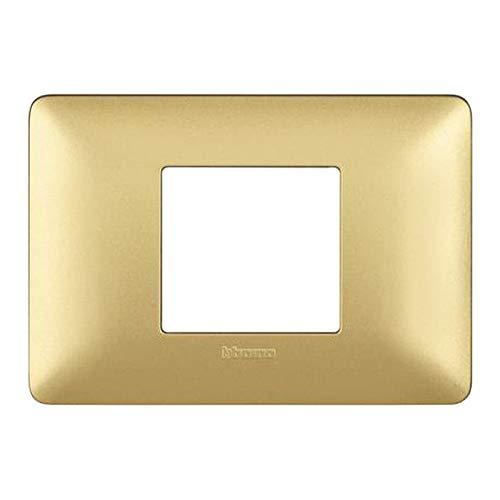 Bticino AM4819MGL Placca Matix 2 Moduli, Centrati Gold