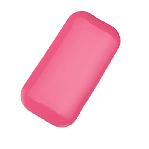Les cils réutilisables en silicone cosmétique tampons le support de palette font une extension lâche (rose)