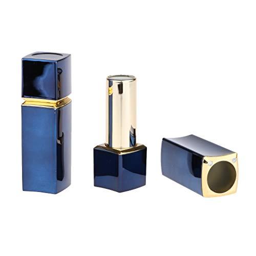 T TOOYFUL 2X Contenants Vides de Rouge à Lèvres Lip Rétro Tubes Baume Récipient de Cosmétique Couvercle en en Plastique ABS Durable