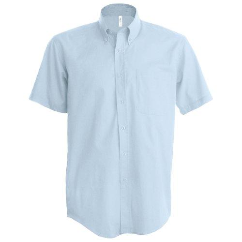 Kariban - Camisa Manga Corta Modelo Oxford Cuidado fácil (Tallas Grandes) Hombre Caballero - Trabajo/Boda/Fiesta