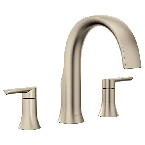 Moen TS983BN Doux Two-Handle Roman Tub Faucet, Valve Required, Brushed Nickel
