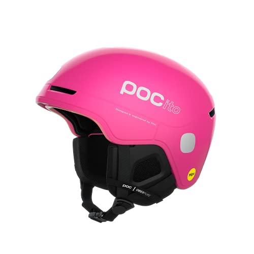 POC POCito Obex MIPS, Casco da Sci Unisex Bambino, Fluorescent Pink, M-L (55-58)