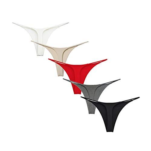 Avondii Underwear Damen String Tanga Baumwolle Thong (L, A-Mehrfarbig)