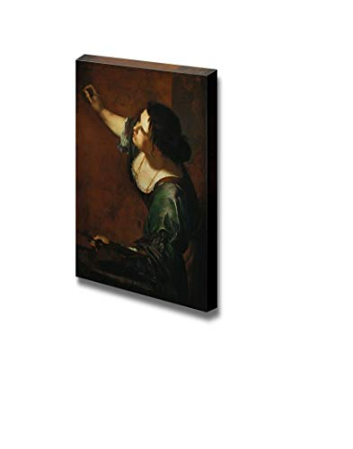 """Our Wings Self-Portrait as The Allegory of Painting by Artemisia Gentileschi - Canvas Print Wall Art Famous Painting Reproduction - 12"""" x 18"""""""