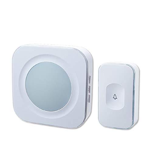 Phayee Smart Wireless deurbel, draadloze deurbel, waterdicht, 300 m bereik, led-knipperlicht, afstandsbediening deurbel met 36 belletjes