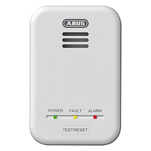 ABUS Gasmelder GWM100ME für Gasthermen - Erdgas (Methan) / Stadtgas - Alarmlautstärke 85 dB - weiß - 81443
