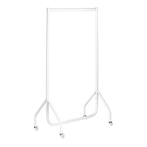 Shopfitting Warehouse Stabiler, Großer Kleiderständer, Garderobenständer – Robuste 91cm Lange Profi-Kleiderstange komplett aus Stahl in Weiß