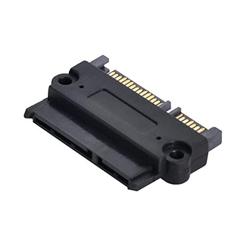 Cablecc Adaptador convertidor Hembra SATA 22P 7 15 a SATA 22Pin 7 15 Macho