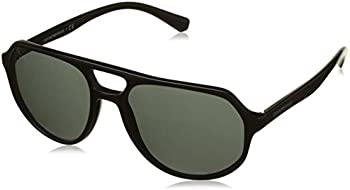 Emporio Armani Men's Pilot Sunglasses (Black)