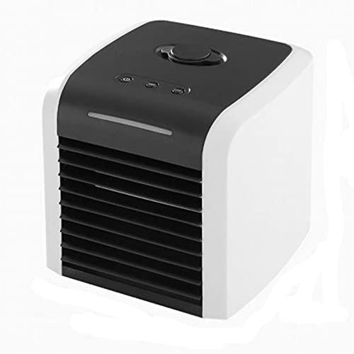 XHMJ Mini condizionatore d'Aria, Materiale ABS, Regolazione della velocità del Vento a Due Livelli, Alimentazione USB a Basso Rumore, Adatta per dormitorio/Ufficio, ECC Black