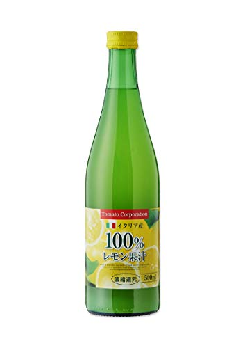 トマトコーポレーションレモン果汁100% 濃縮還元(イタリア産)500ml ×12本