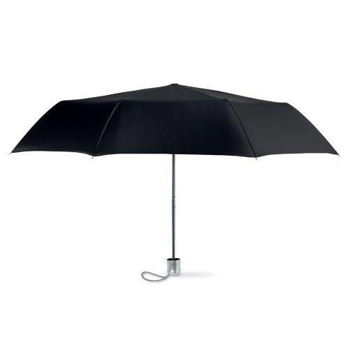 Mini Folding Compact Umbrella With Pouch, Manual Opening Ombrello classico, 94 cm, Nero (Black)