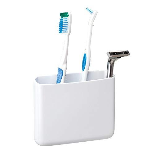 iDesign 21071EU Affixx Zahnbürsten- und Rasiererhalter, Groß, weiß