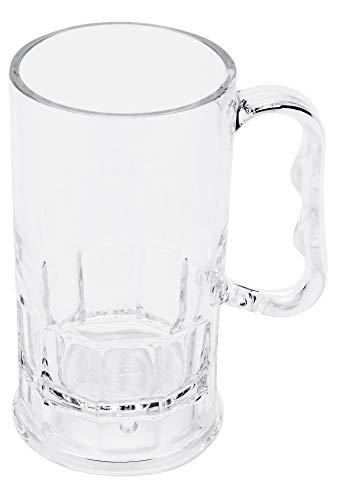 GET Shatter-Resistant Plastic Beer Mug/Stein, 10 Ounce, BPA Free, 0082-1-SAN-CL-EC (Set of 4)