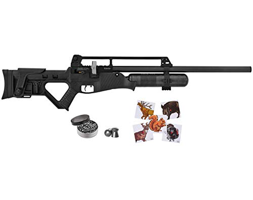 Wearable4U Hatsan Blitz Full Auto PCP .30 Cal Air Rifle with Included 100x Paper Targets and 100x .30cal Pellets Bundle