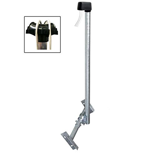 PremiumX Basic X120-48F SAT TV Dachsparrenhalter 120cm Mast 48mm Stahl voll feuerverzinkt Dachsparren-Halter für Satellitenantenne Satellitenschüssel mit Kabeldurchführung Mastkappe