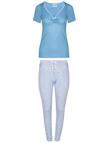 Vive Maria Summer Breeze Pyjama Blau Allover, Größe:M