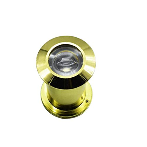 Alloy Deurspionnen, Grote Maat 5cm, Hotel Beveiliging Door Viewer 220 ° Groothoek Kijkgaatje Kijker Met Achterklep Anti-diefstal Eye For Home Security System (Color : Gold)